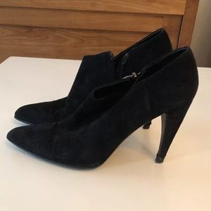 Authentic Prada Black Suede Booties, size 39, 8.5